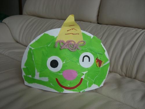 すべての折り紙 折り紙 鬼 : 節分用に作った鬼の面。折り紙 ...